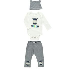 Baby Set 3tlg., best. aus Body, Hose und Mütze