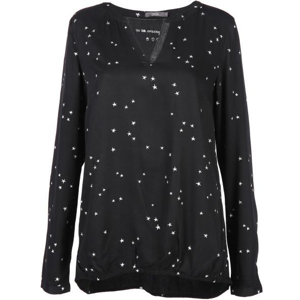 Damen Bluse mit Sternen Print
