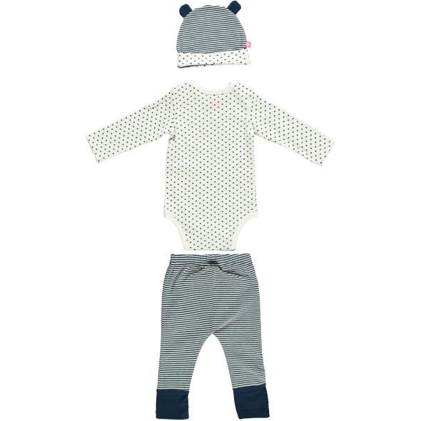Baby Set 3tlg., best. aus Body, Mütze und Hose