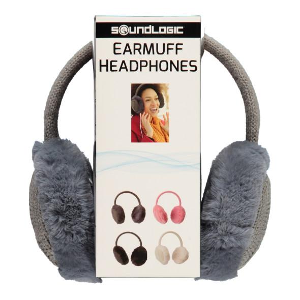 Kopfhörer aus Plüsch und Strick