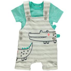 Baby 2er Set Krokodil Body + Strampler