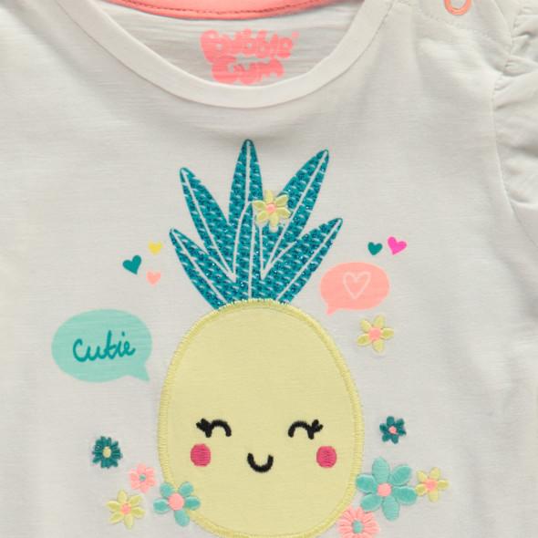 Baby Mädchen T-Shirt mit Print und Volant