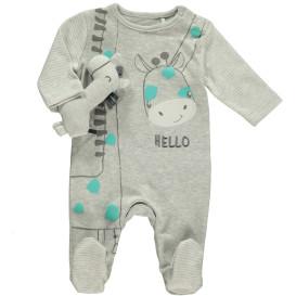 Baby Pyjama Body mit Giraffe