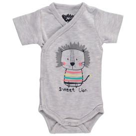 Baby Jungen Wickelbody mit Print