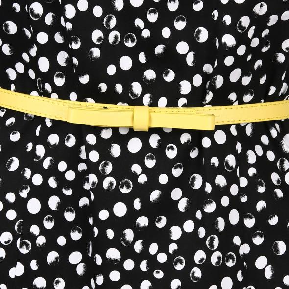 Damen Kleid mit Punkten und Gürtel