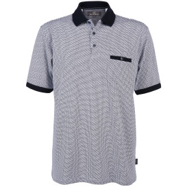 Herren Poloshirt im Minimalprint