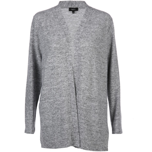 Damen Flausch Cardigan in langer Form