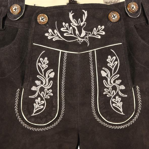 Herren Lederhose mit traditioneller Stickerei