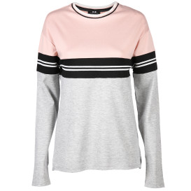 Damen Sweatshirt mit eingesetzten Streifen