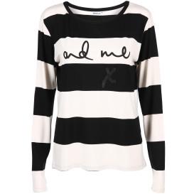 Damen Shirt mit Streifen und Print