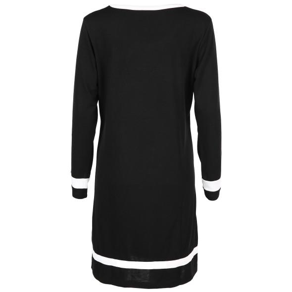 Damen Nachthemd mit Streifen und Print