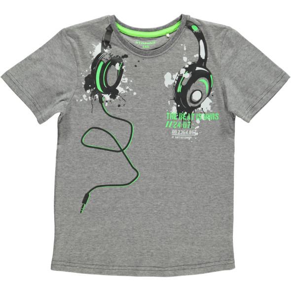 Jungen Shirt in melierter Optik