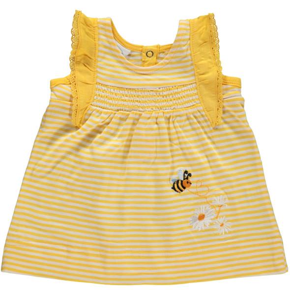 Baby Shirt im Streifenlook mit Stickerei