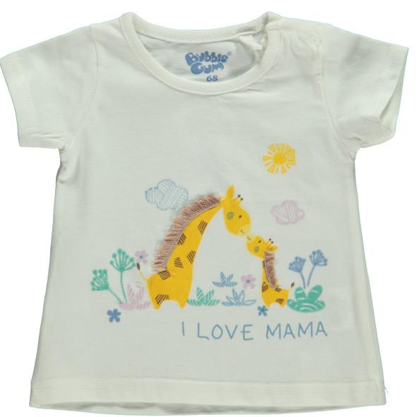 Baby Shirt mit Print und Applikation