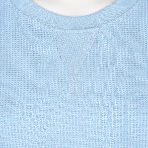 Damen Shirt in Waffelpique Struktur