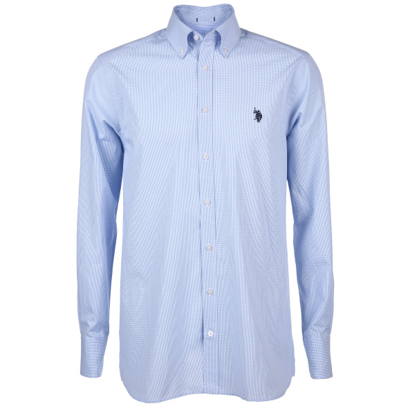Herren Cityhemd mit Stickerei und Button-Down-Kragen