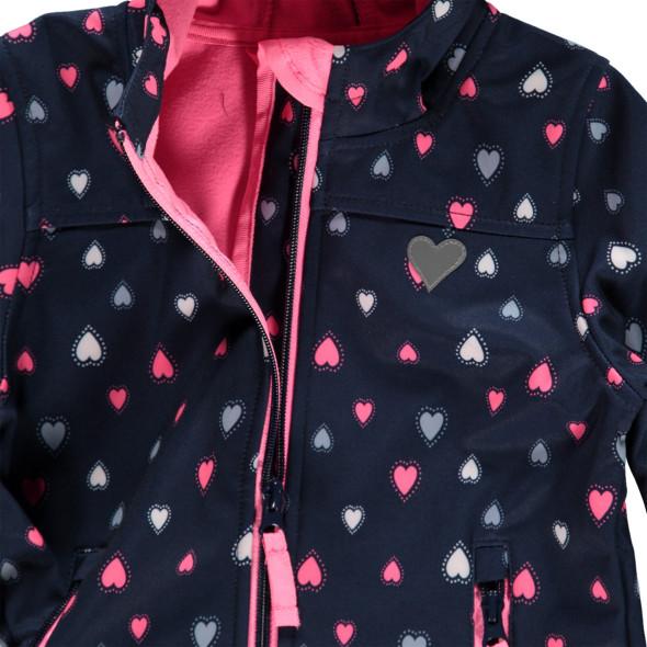 Mädchen Softshelljacke mit Herzprint