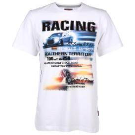 Herren Shirt mit Frontprint und Stickerei