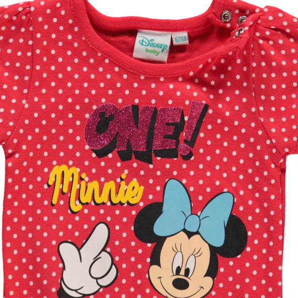 Baby Body mit Punkten und Mickey Mouse Print