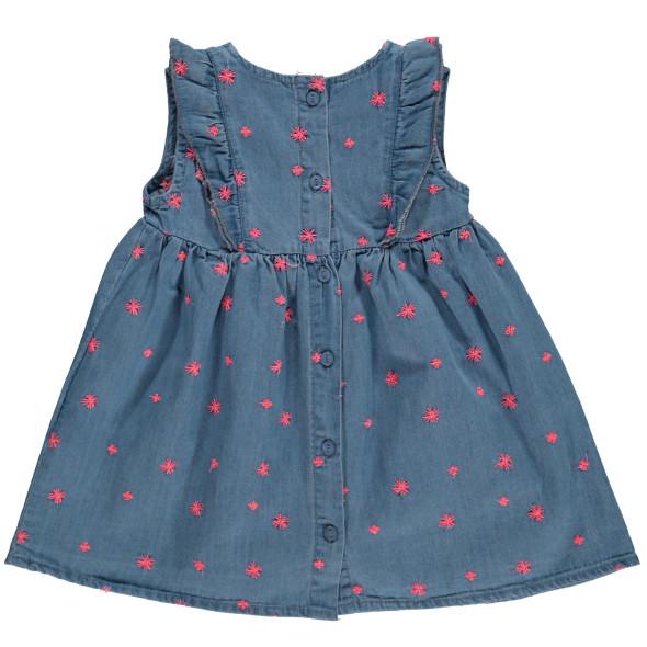 Baby Mädchen Jeanskleid  mit Stickerei