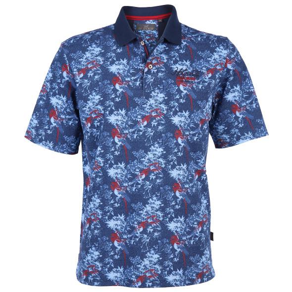 Herren Poloshirt mit Allover Muster