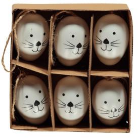 Deko Eier zum Hängen, 14cm lang