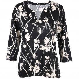 Damen Shirt mit effektvollem Print und 3/4 lange Ärmel