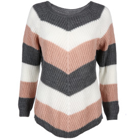 Damen Pullover im Color-Blocking