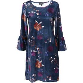 Damen Samtkleid im floralen Look