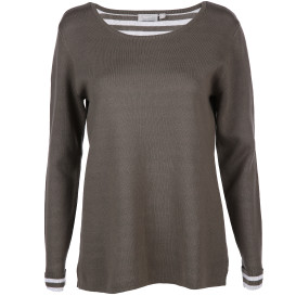 Damen Pullover  in Doubleface Optik