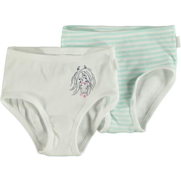 Mädchen Unterhosen 2er Pack in Größe 128