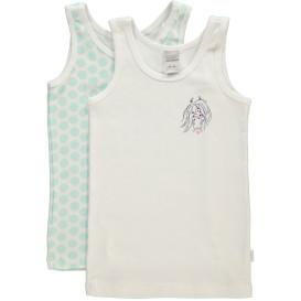 Mädchen Unterhemden im 2er Pack Größe 104