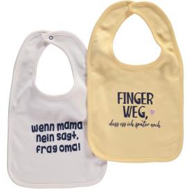 Baby Lätzchen mit Sprüchen im 2er Pack