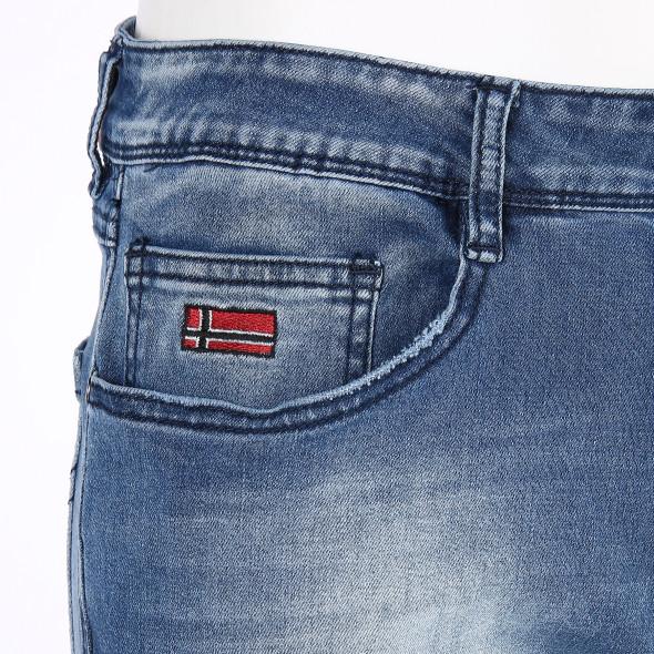 Herren Jeanshose in heller Waschung