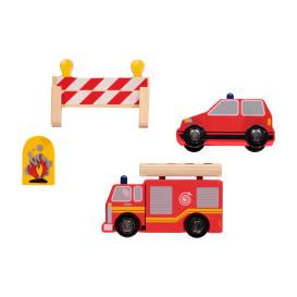 Feuerwehr Set aus Holz und Kunststoff