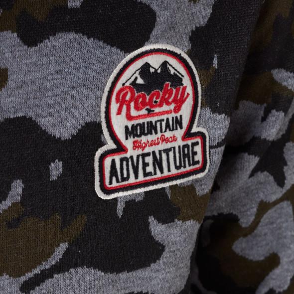 Jungen Kapuzenpullover mit Camouflage-Muster