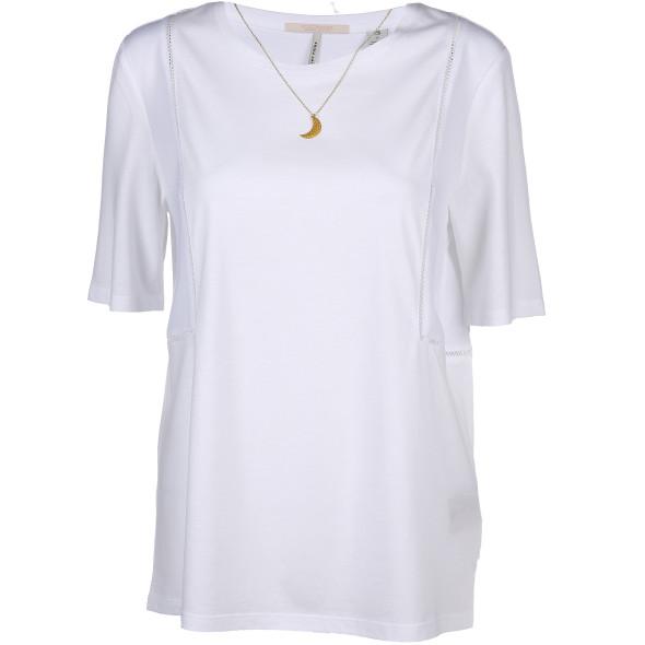 Damen Scotch&Soda Shirt mit Hohlsaum und Halskette