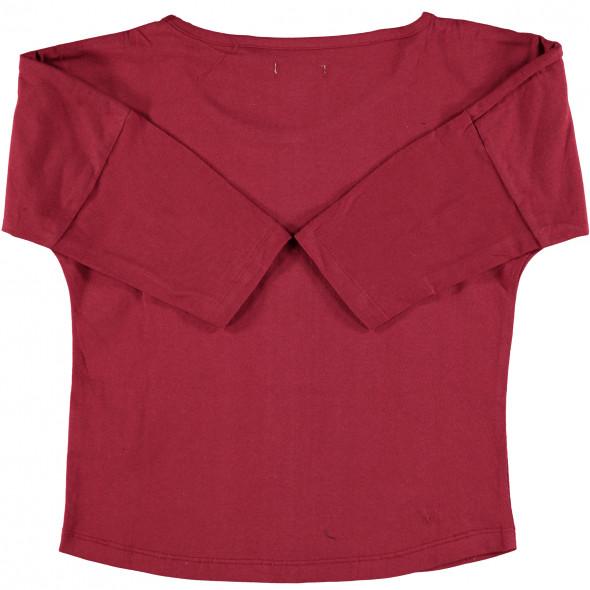 Mädchen Shirt mit 3/4 langem Arm und Perlenbesatz