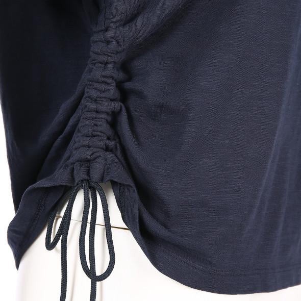 Damen Scotch&Soda Shirt mit Frontprint und seitlicher Raffung