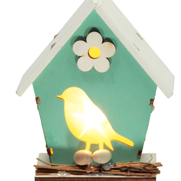 Vogelhaus mit LED Beleuchtung