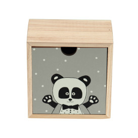 Holzbox mit Tierprint 14cm hoch
