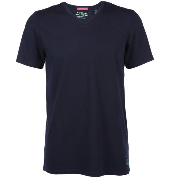 Herren Scotch&Soda Basic T-Shirt mit V-Ausschnitt