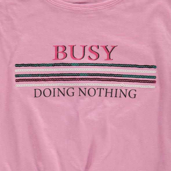 Mädchen Shirt mit Schriftprint und Pailletten