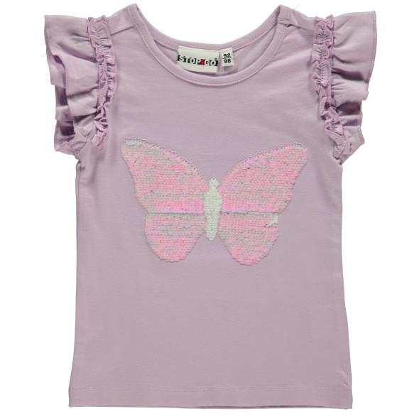 Mädchen Shirt mit Wendepailletten