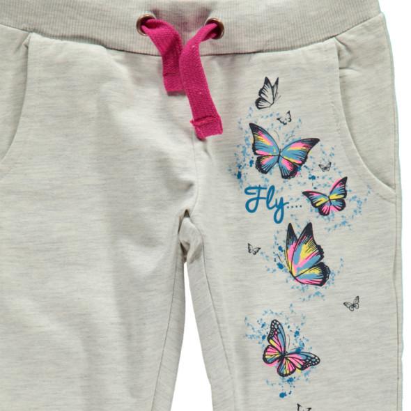 Mädchen Jogginghose mit Schmetterlingsprint