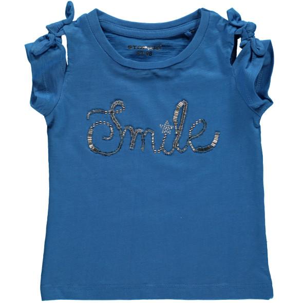 Mädchen Shirt mit Perlen, Pailletten und Nieten