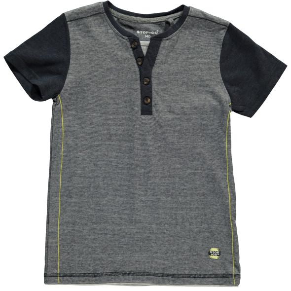 Jungen Shirt in Melange Optik