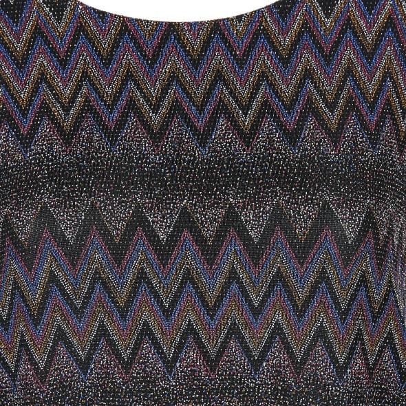 Damen Lurex Shirt mit effektvollem Muster