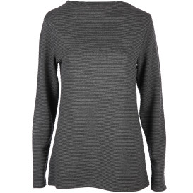 Damen Sweatshirt in Ripp Optik