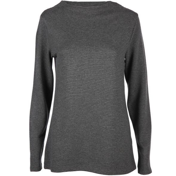Damen Sweatshirt in Ripp Optik